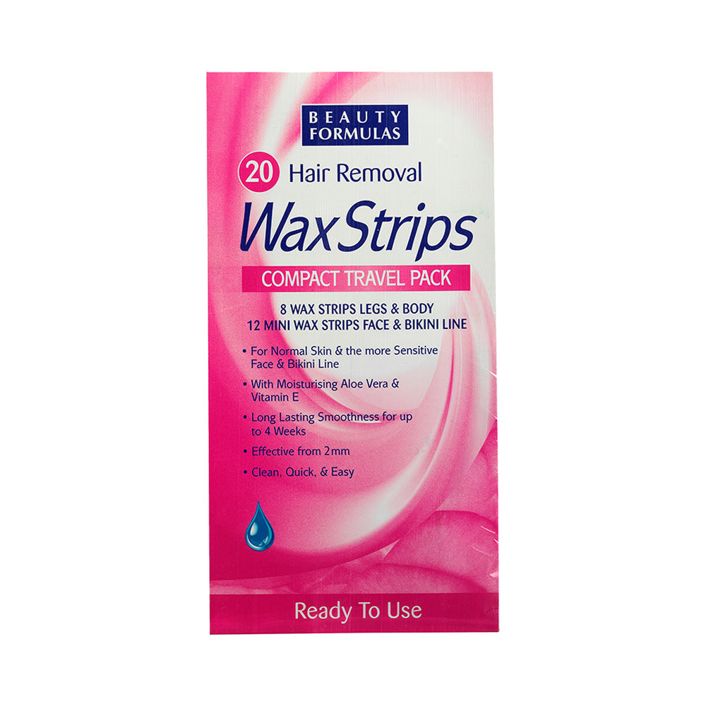 Hair Removal Wax Strips - Compact Travel Pack