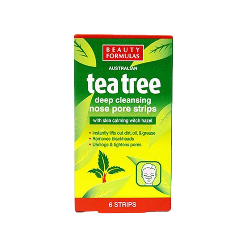 Tea Tree Deep Cleansing Nose Pore Strips 6's