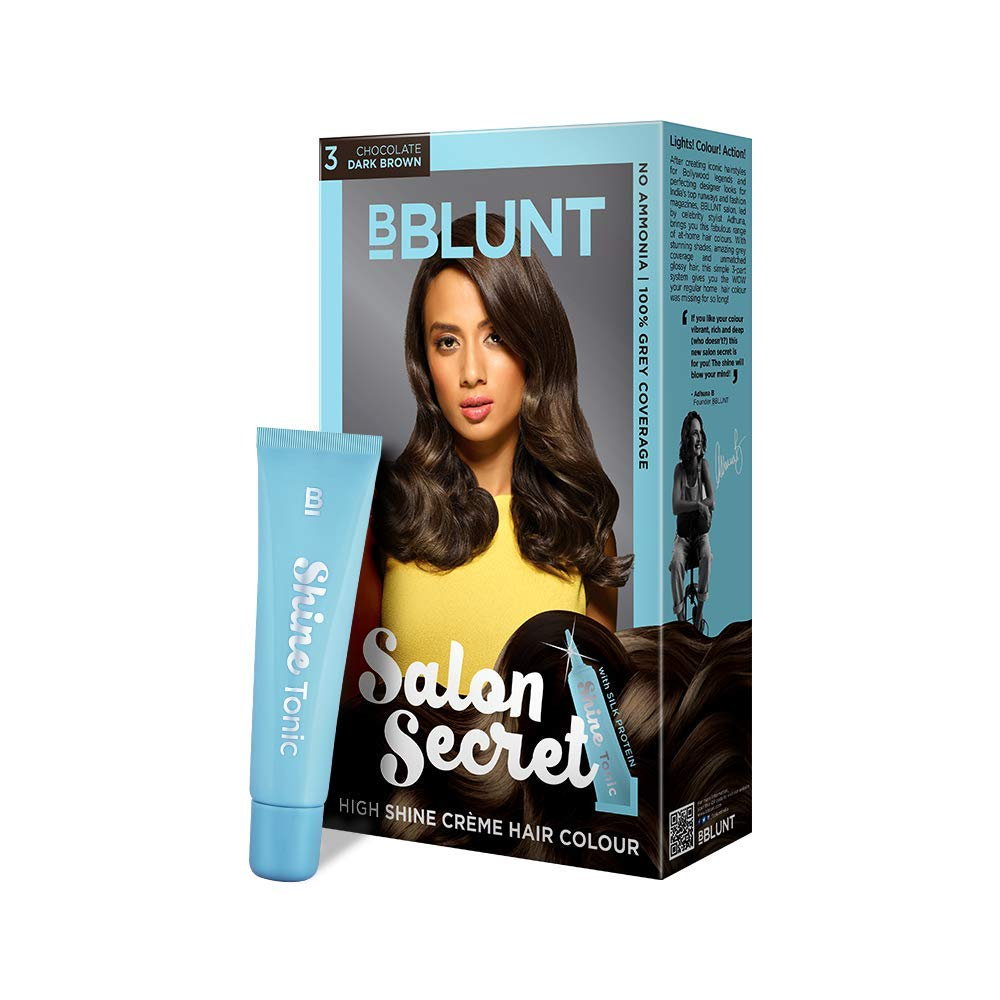 SALON SECRET HIGH SHINE CREME HAIR COLOR CHOCOLATE