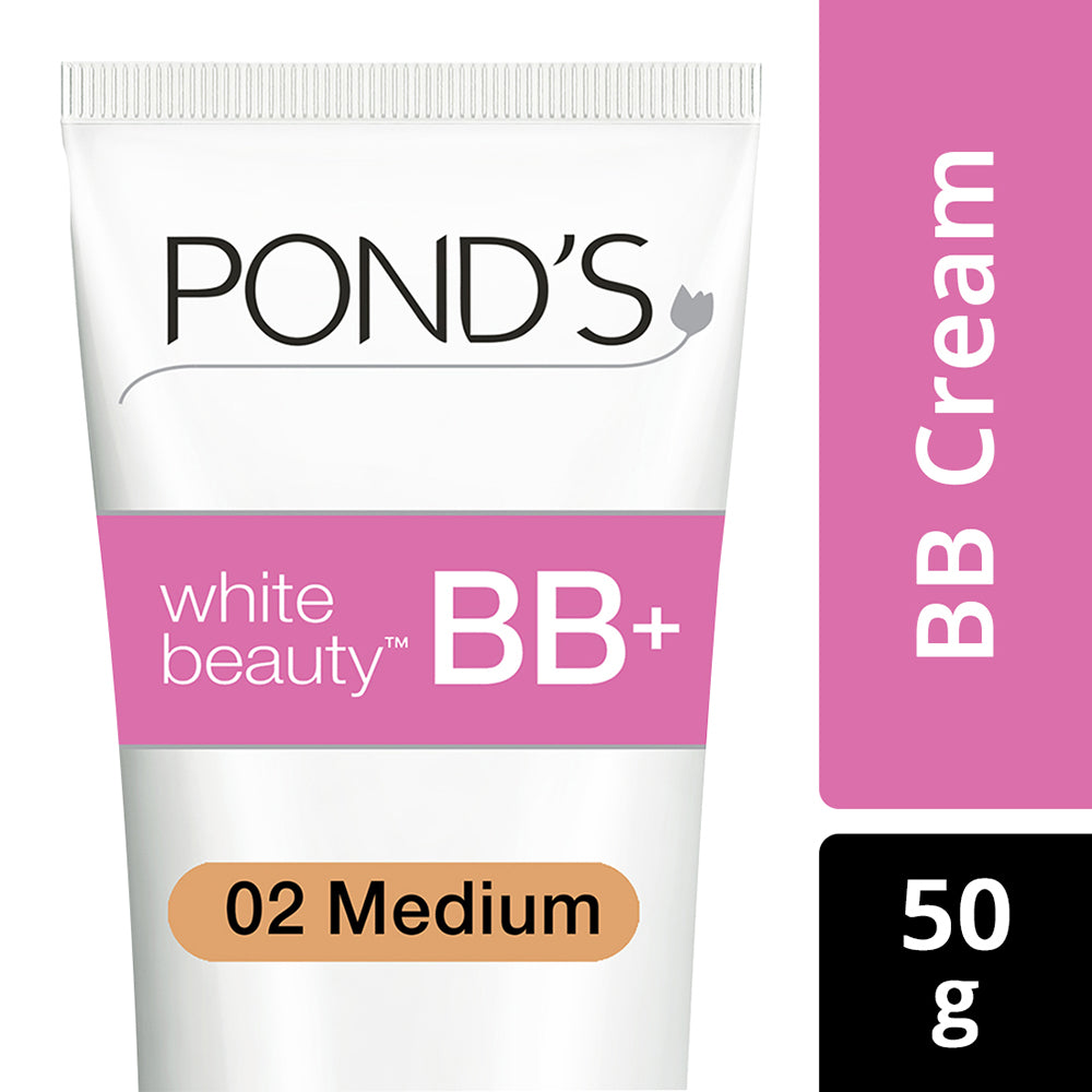 White Beauty BB+ Fairness Cream 02 Medium, 50 g