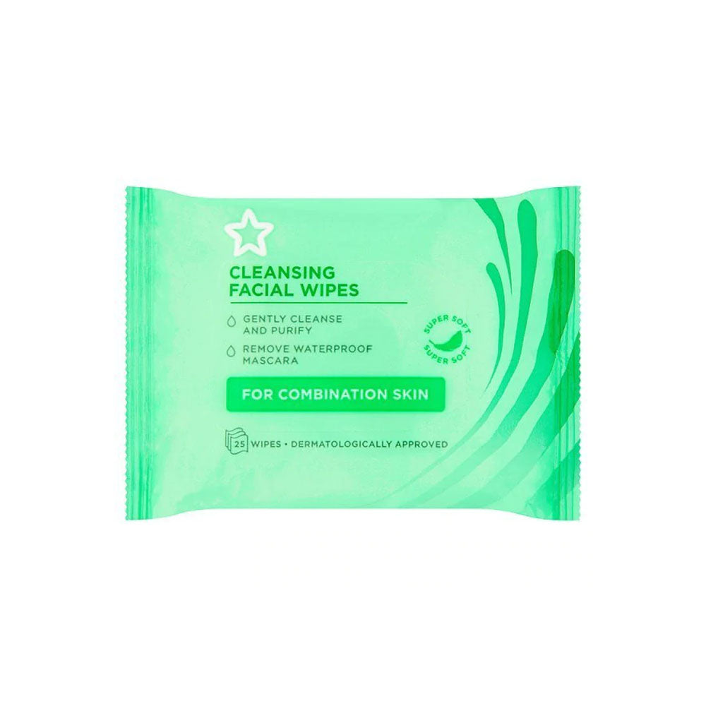 Fragrance Free Combination Face Cleansing Wipes