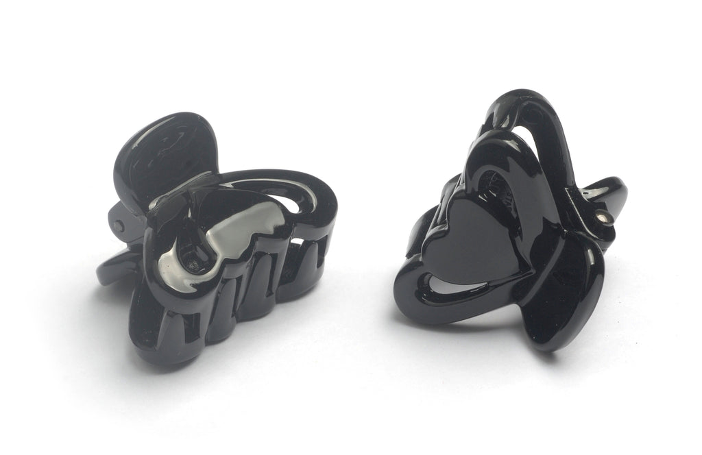 Mini Claw Clip,black,2.6cm,pack of 2