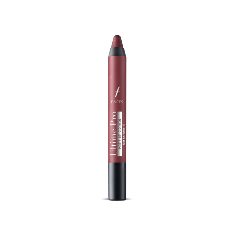 Ultime Pro Lip Crayon Matte Not So Wine 17 2.8 g With Free Sharpener