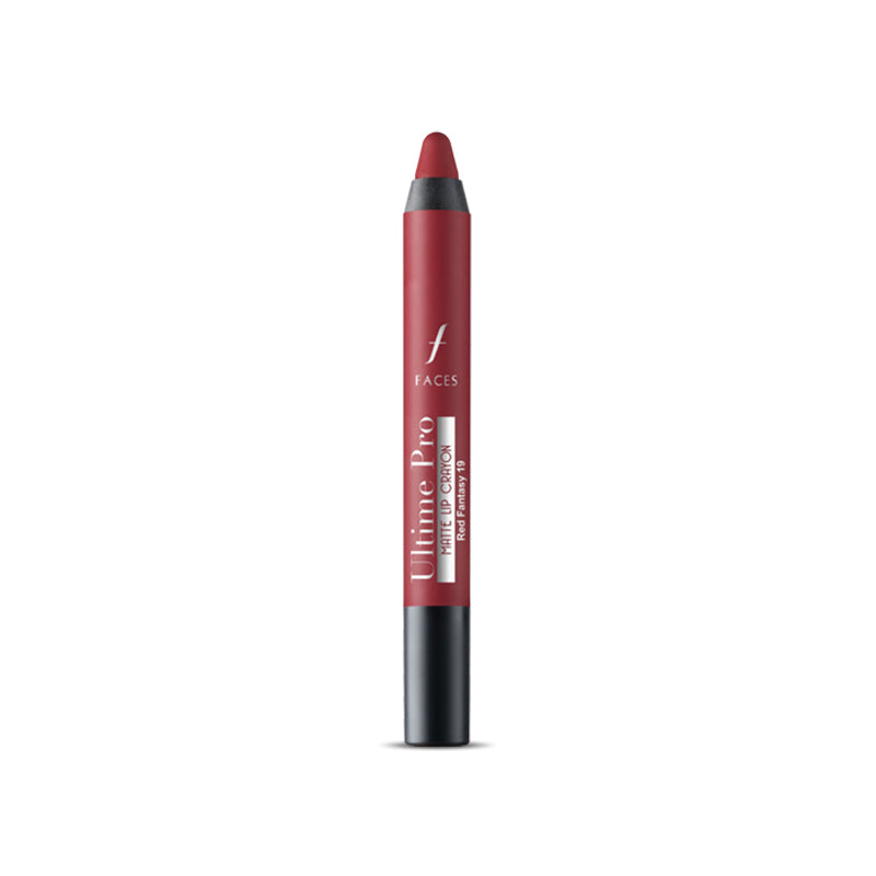 Ultime Pro Lip Crayon Matte Red Fantasy 19 2.8 g With Free Sharpener