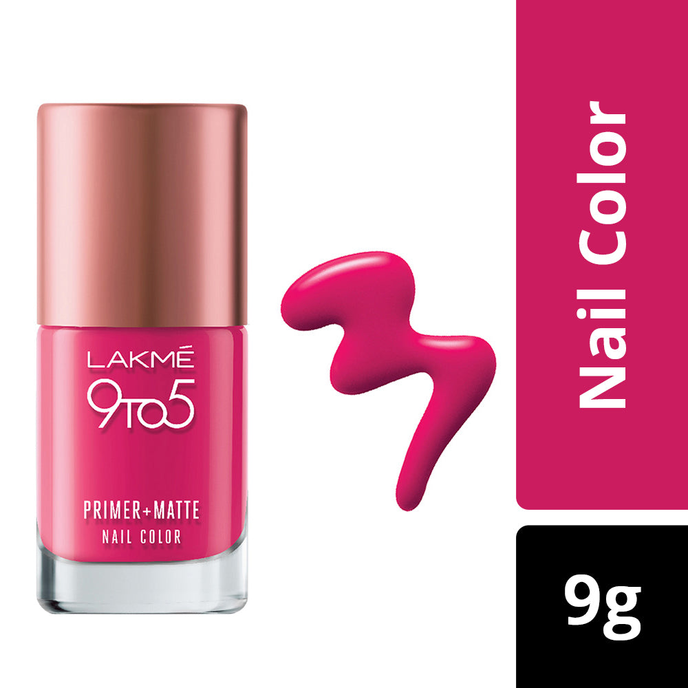 9 to 5 Primer + Matte Nail Color Magenta 9ml