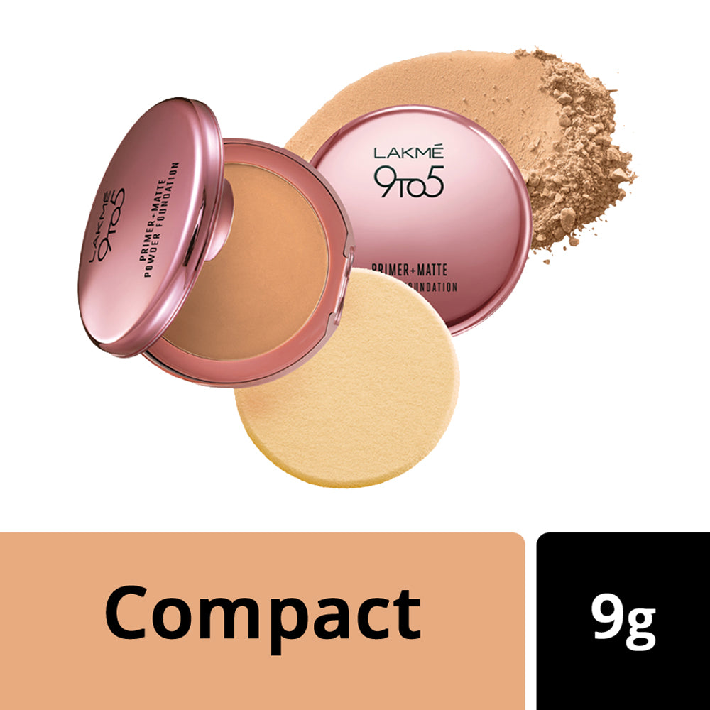 9 to 5 Primer + Matte Powder Foundation Compact Natural Light 9gm
