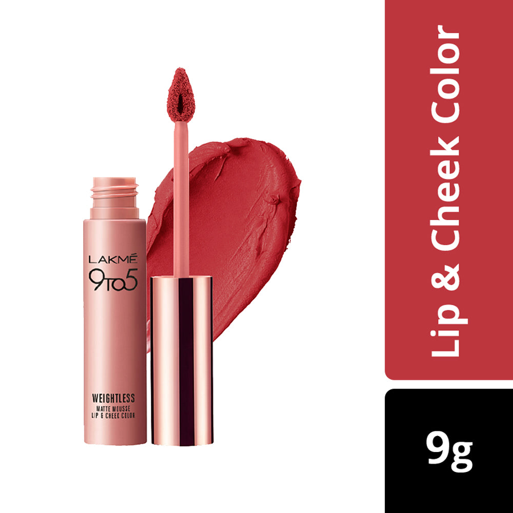 9 to 5 Weightless Mousse Lip & Cheek Color Crimson Silk 9gm