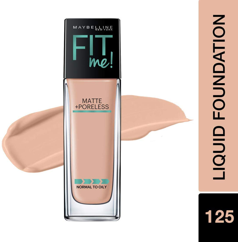 Fit Me Matte+Poreless Liquid Foundation, 125 Nude Beige, 30ml