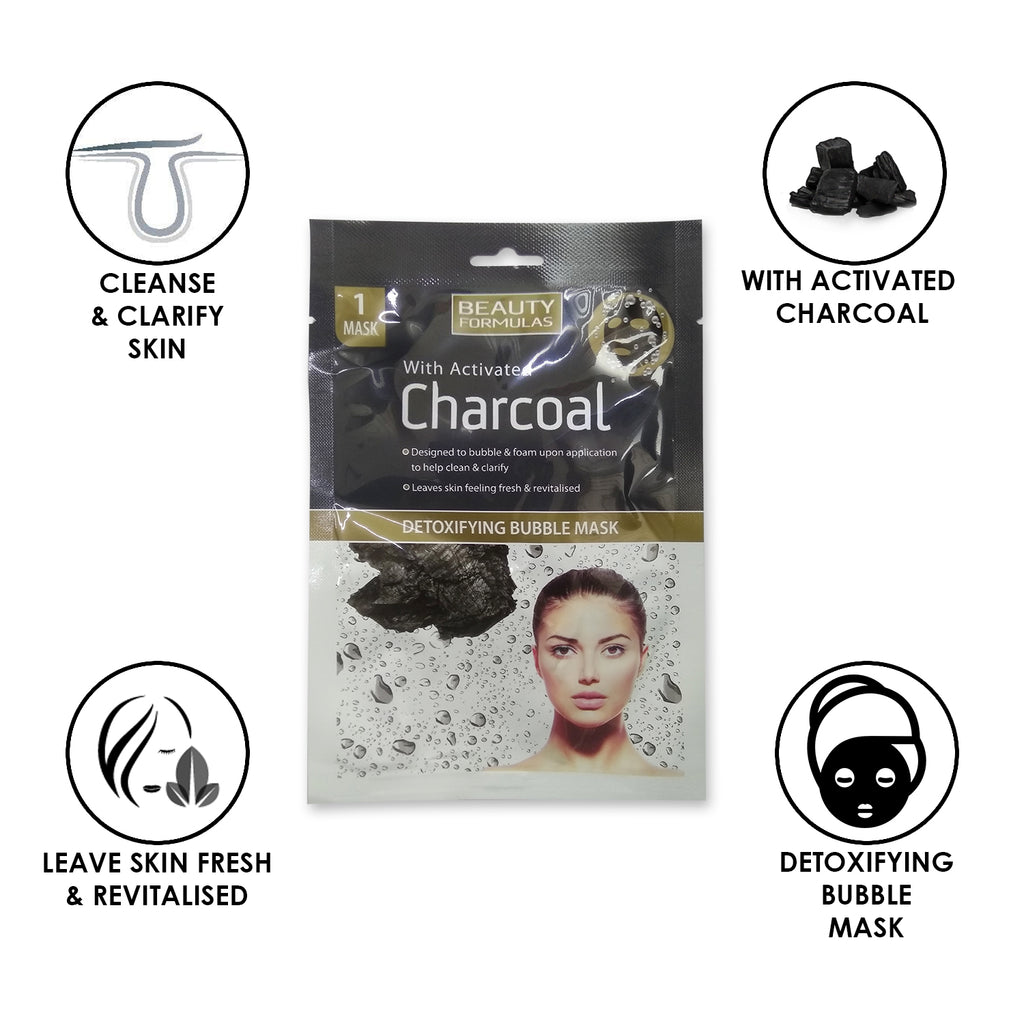 Charcoal Detoxifying Bubble Mask 1pair