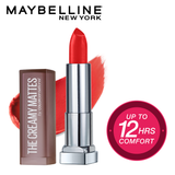 Color Sensational Creamy Matte Lipstick, 639 Big Apple Red, 3.9g
