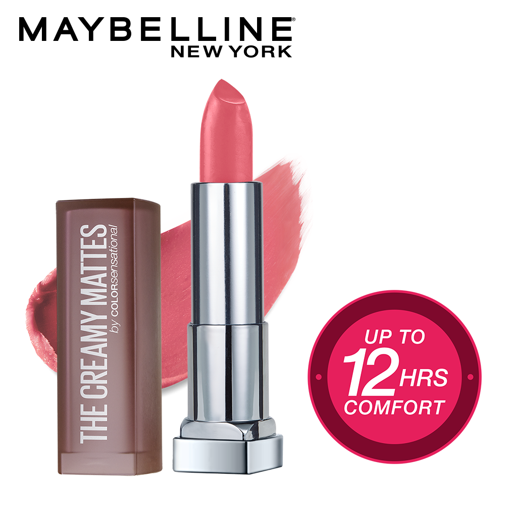 Color Sensational Creamy Matte Lipstick, 642 Pop of Pink, 3.9g