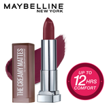 Color Sensational Creamy Matte Lipstick, 696 Burgundy Blush, 3.9g