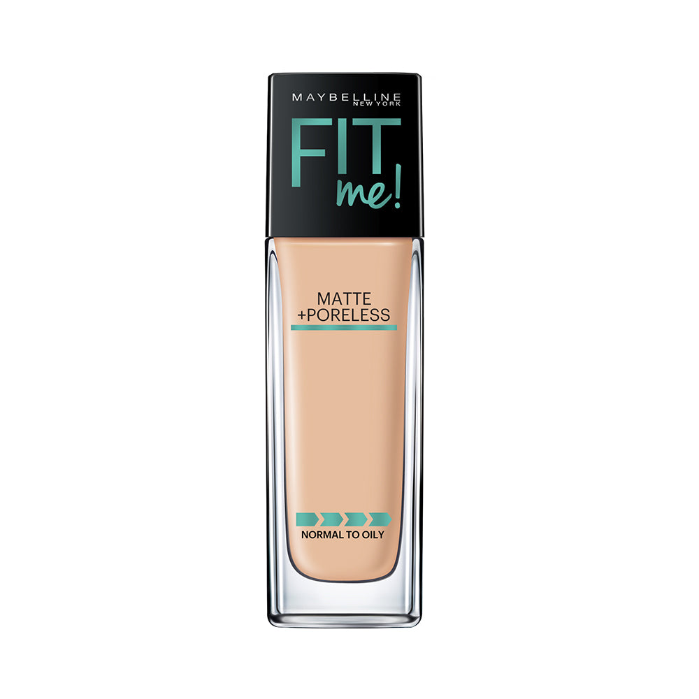 Fit Me Matte+Poreless Liquid Foundation, 128 Warm Nude, 30ml