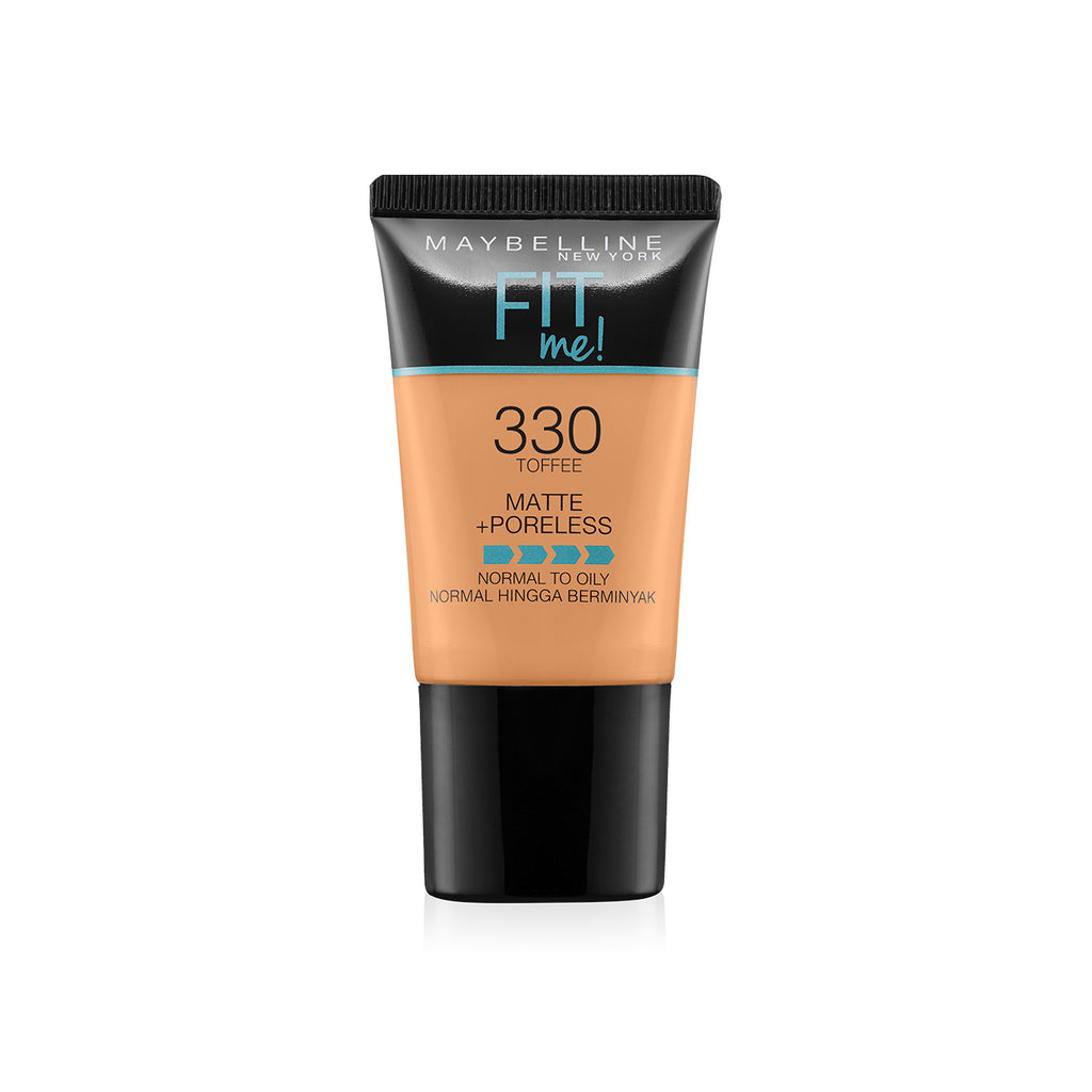 Fit Me Matte+Poreless Liquid Foundation Tube, 330 Toffee, 18g