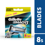 Mach 3 Manual  Shaving Razor Blades (Cartridge) 8s pack