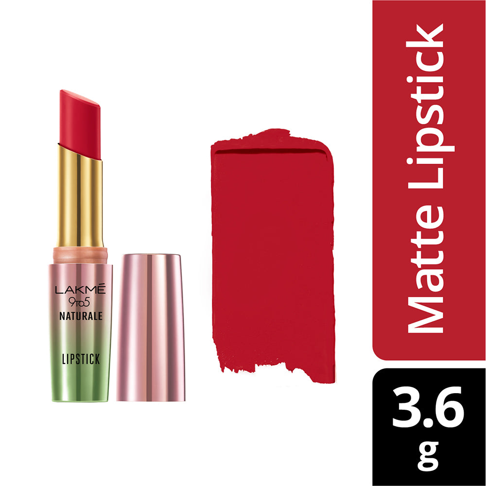 9 to 5 Naturale Matte Lipstick, Flaming Red, 3.6 g