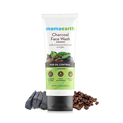 Charcoal Natural Face Wash for oil control and pollution defence 100 ml - For Oily Skin