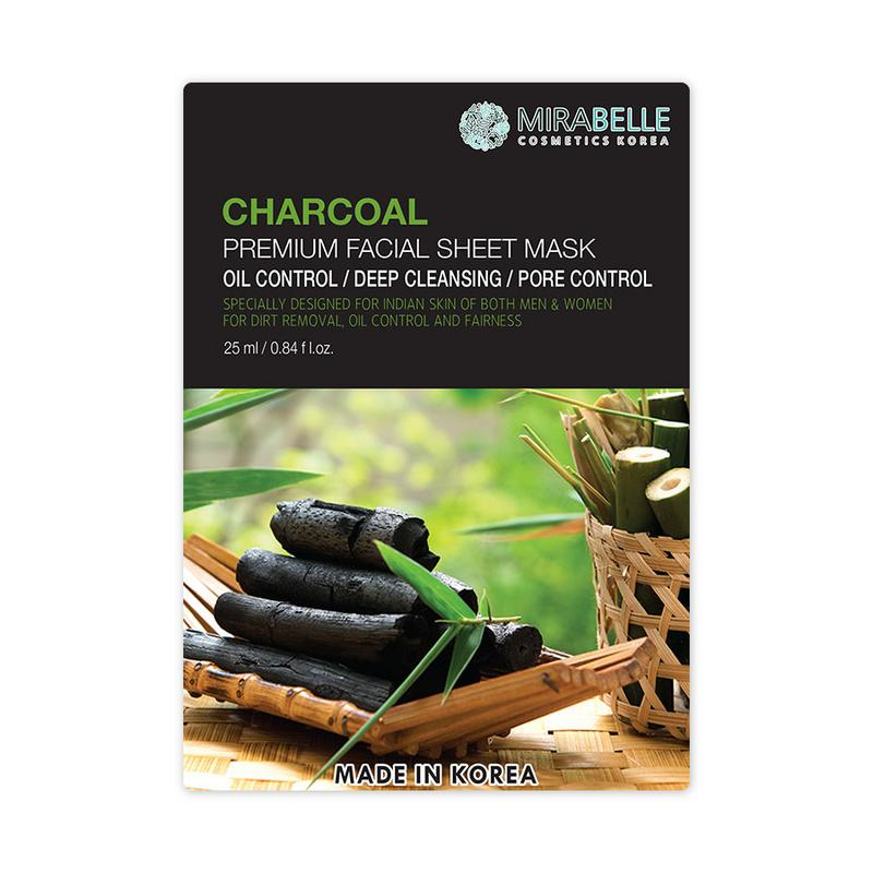 CHARCOAL PREMIUM FACIAL SHEET MASK