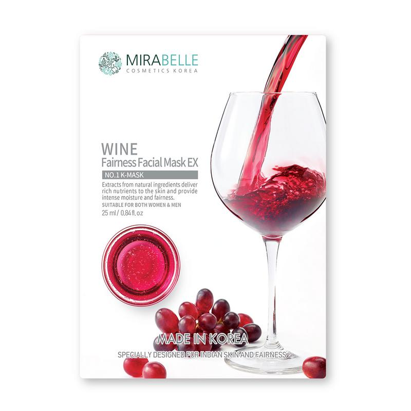WINE FAIRNESS FACIAL SHEET MASK EX