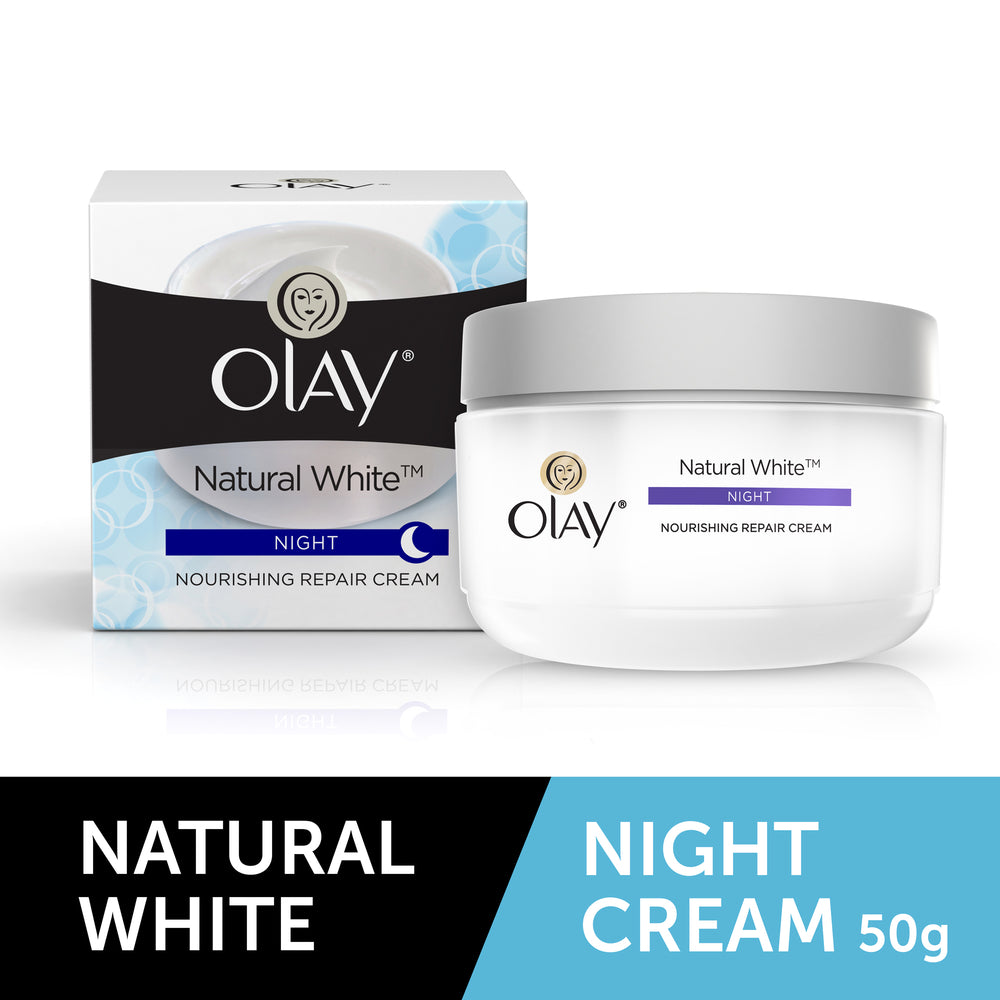 Natural White All in One Fairness Night Skin Cream 50g