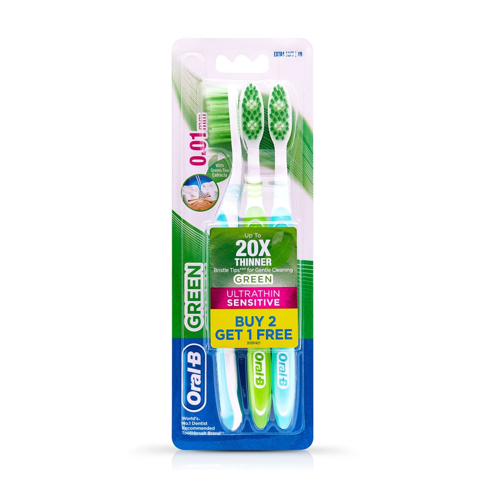 Ultrathin Sensitive Green Toothbrush Buy 2 Get 1 Free