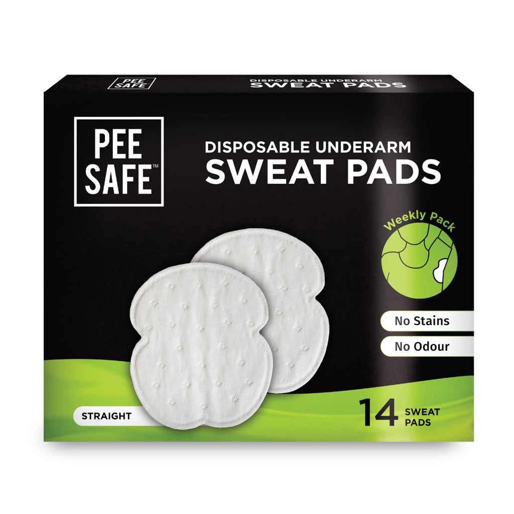Disposable Underarm Sweat Pads (Straight) - Pack of 14