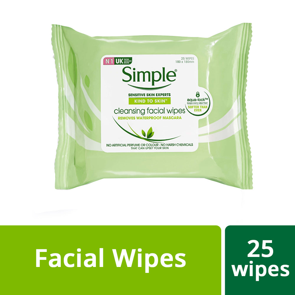 Kind To Skin Cleansing Facial Wipes, 25 pcs