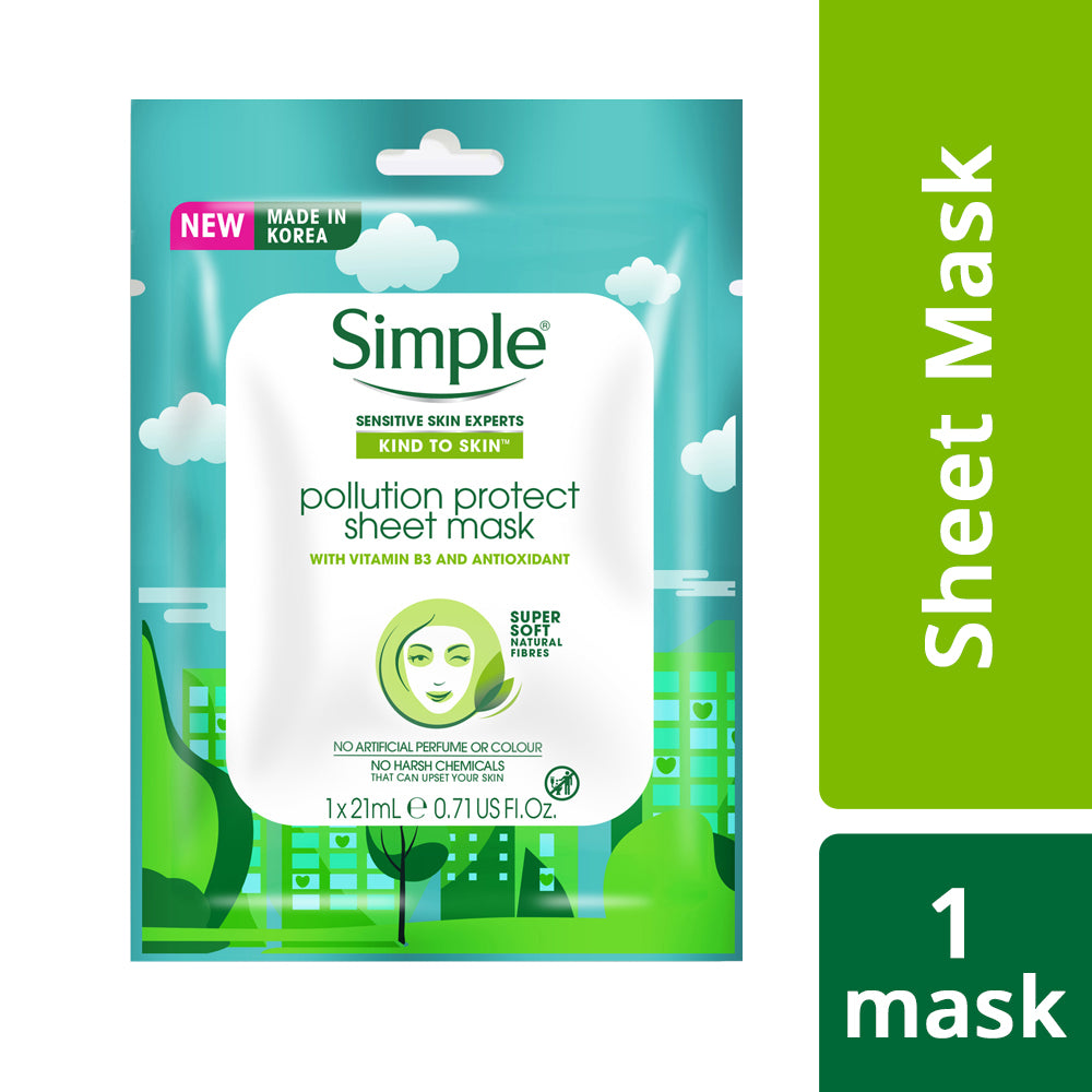 Kind to Skin Pollution Protect Sheet Mask, 21 ml