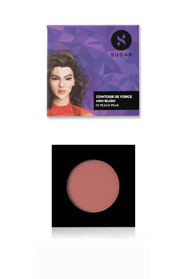 Contour De Force Mini Blush - 01 Peach Peak (Soft Peach Pink)