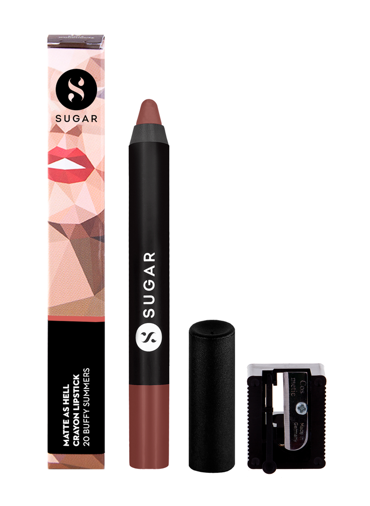 Matte As Hell Crayon Lipstick - 20 Buffy Summers (Mid-tone Warm Nude)