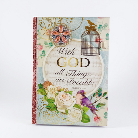 With God All Things Possible w/brooch