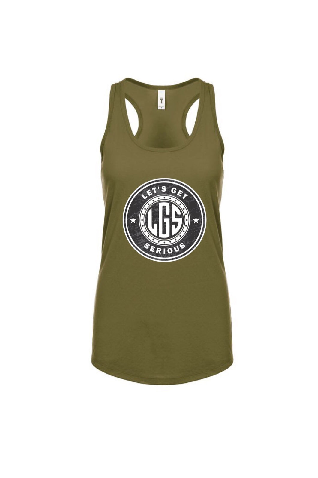 Military Green Original LGS Logo Women's Ideal Racerback Tank