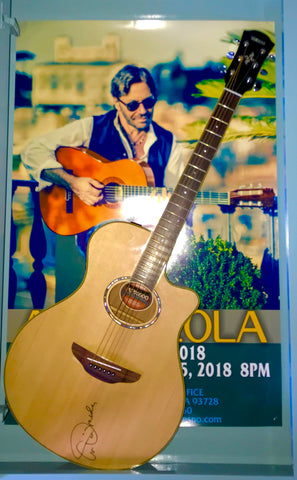 Al Di Meola Signed Guitar & Original Event poster