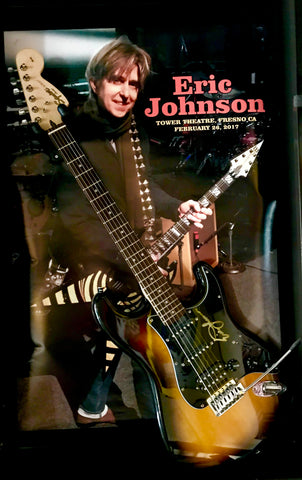 Eric Johnson Signed Guitar & Original Event Poster