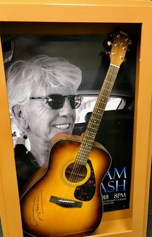 Graham Nash Signed Guitar & Original Event Poster