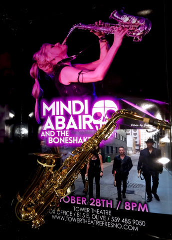 Mindi Abair Authentic Signed SAX & Original Event poster