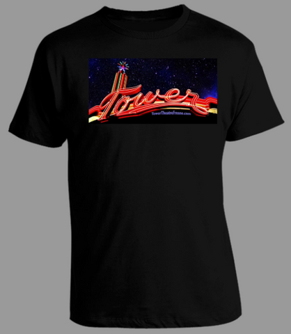 Men's Tower Neon Sky Black T-Shirt