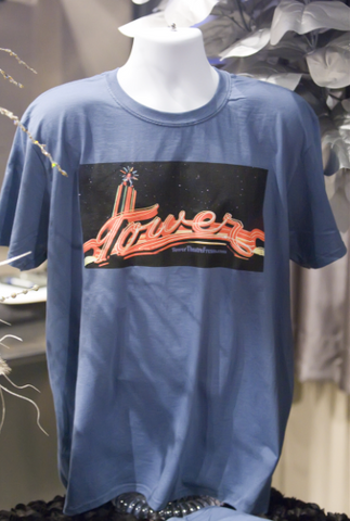 Men's Tower Neon Sky Blue T-Shirt