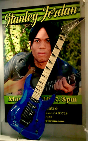 Stanley Jordan Authentic Signed Guitar & Original Event poster