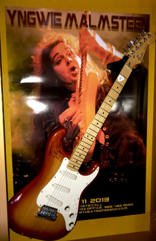 Yngwie Malmsteen Signed Guitar & Original Event poster