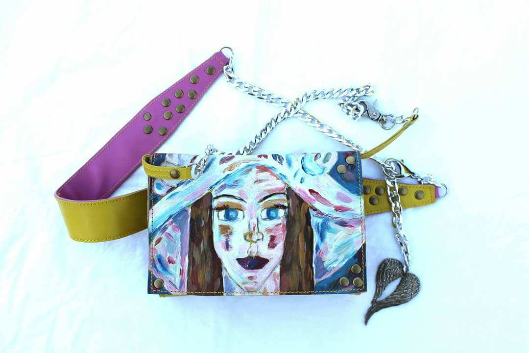 Belt Bag Hand Painted the Girl With The Hat Limited Edition