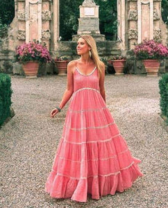 Miss June Maxi Dress Manly Pink