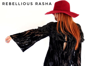 Boho Velvet Swing Dress Rebellious Rasha