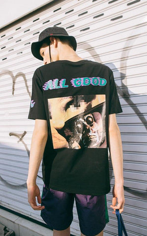 All Good Skull Print T-Shirt