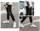 Ankle Length Ripped Denim Pants