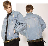 Zipper Sleeve Denim Jacket