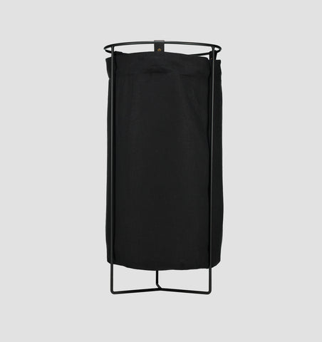 Black Frame Laundry Basket - Black Linen