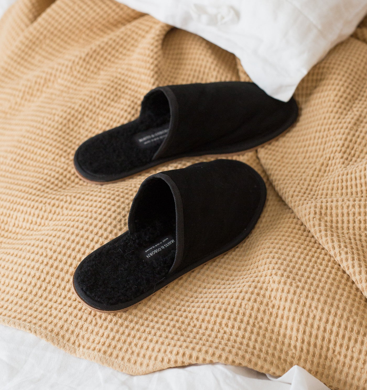 Black Wooly House Shoes