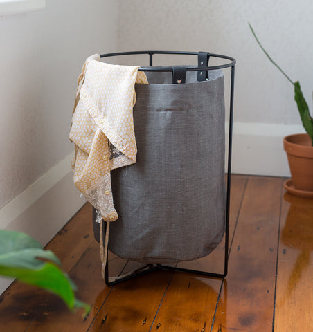 Small Laundry Basket — Grey