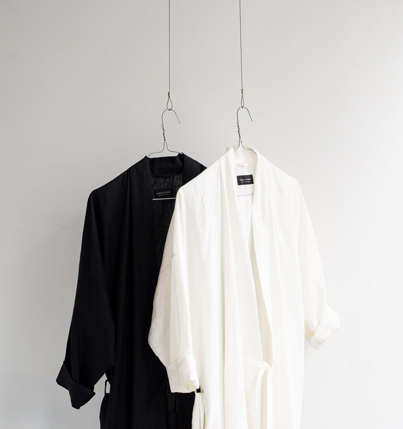Linen House Coat - Dove White